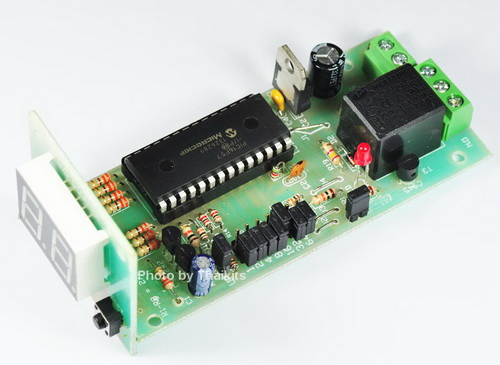 UP-DOWN Counter 0-999 with Relay Control KIT 12V DC